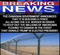 millions of liberals illegally migrate to Canada to flee Trump presidency